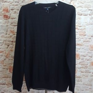 New Vince Camuto Black/Gray Trim Sweater